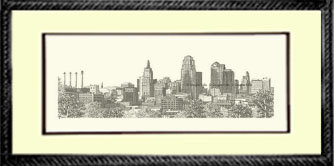 Kansas City Skyline, Framed