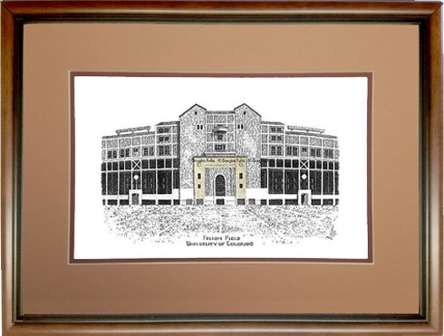 Folsom Field, Framed