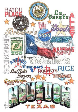 Houston, Texas Print