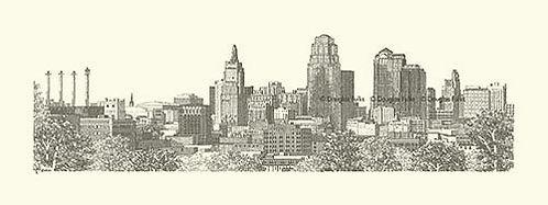 Kansas City Skyline, Print