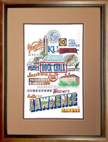 Lawrence, Kansas Framed