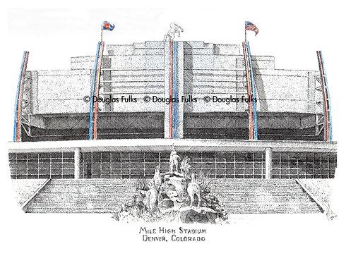 Mile High Stadium, Print