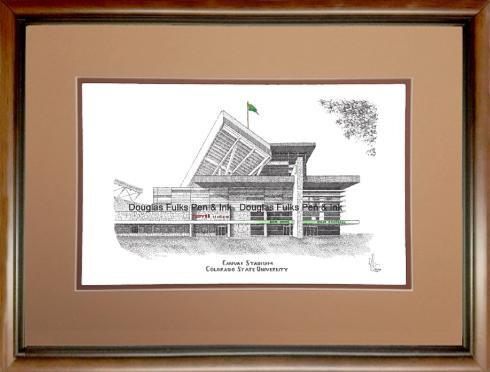 Canvas Stadium, framed