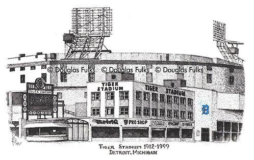 Detroit Tiger Stadium, Print