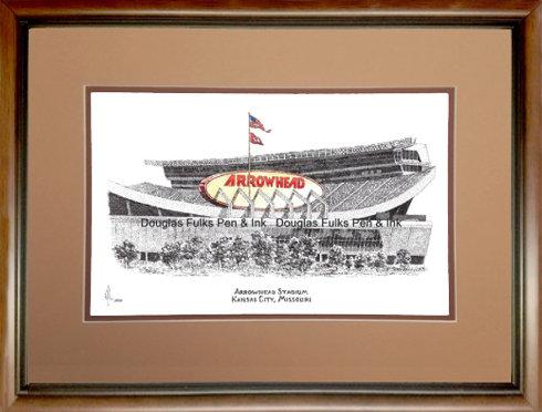 Arrowhead Stadium, Framed