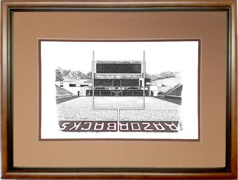 Razorback Stadium, Framed