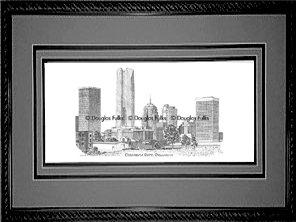 Oklahoma City Skyline, Framed
