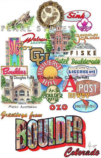 Boulder, Colorado Print