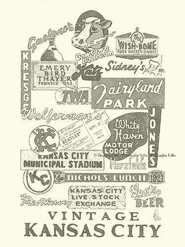 Kansas City, Vintage KC, Print