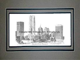 Oklahoma City Skyline, Matted