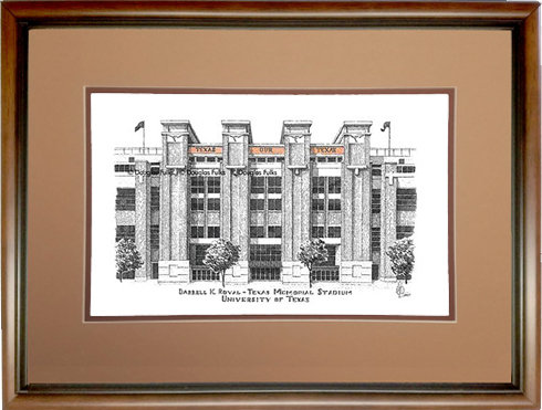 Darrell K Royal Stadium, Framed