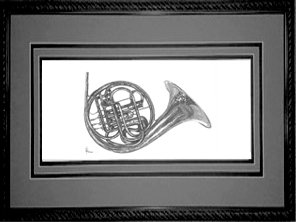 French Horn, Framed