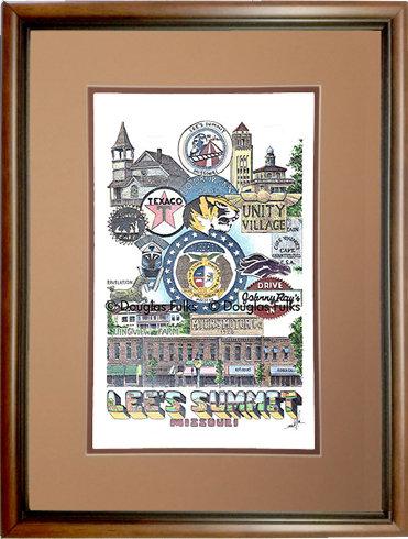 Lee's Summit, Missouri Framed