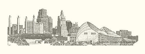 Urban KC Skyline, Print