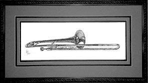 Trombone, Framed