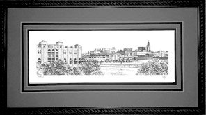 Lincoln Skyline, Framed