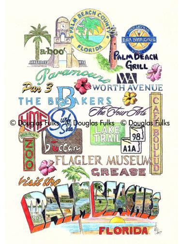 Palm Beaches, Florida Print