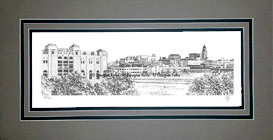 Lincoln Skyline, Matted