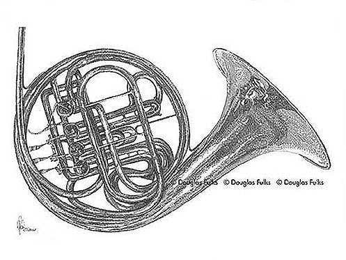 French Horn, Print