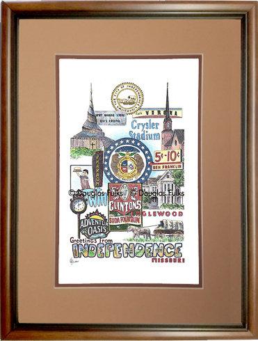 Independence, Missouri Framed