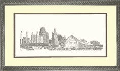 Urban KC Skyline, Framed