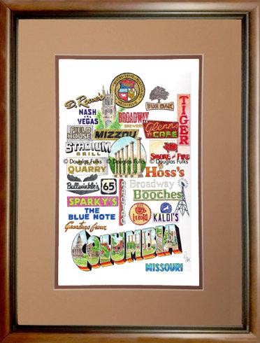 Columbia, Missouri Framed