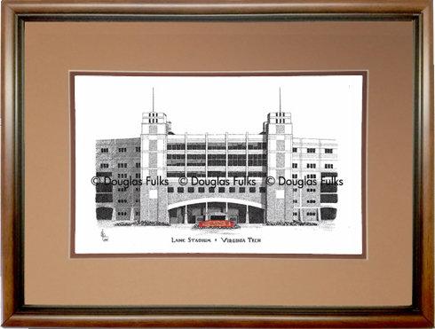 Lane Stadium, Framed