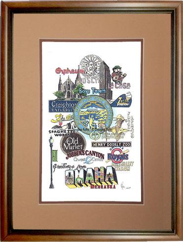 Omaha, Nebraska Framed
