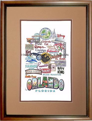 Orlando, Florida Framed