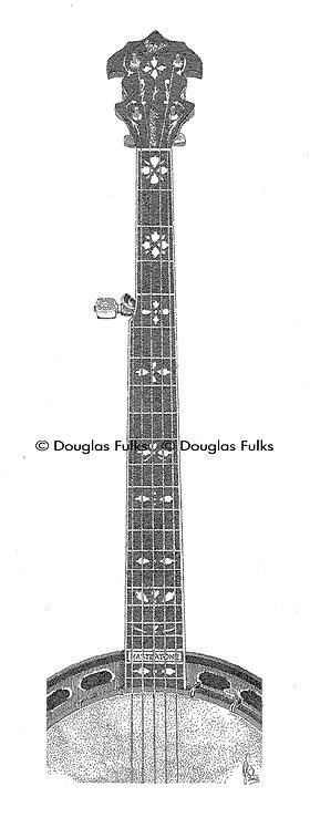 Scruggs Banjo, Print