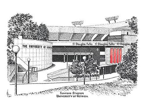 Sanford Stadium, Print