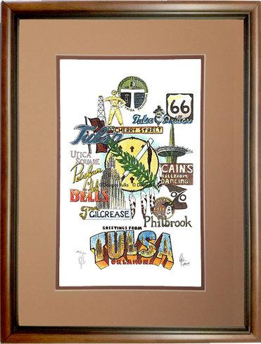 Tulsa, Oklahoma Framed