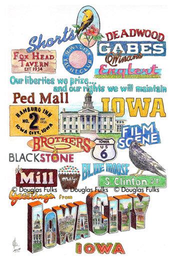 Iowa City, Iowa Print