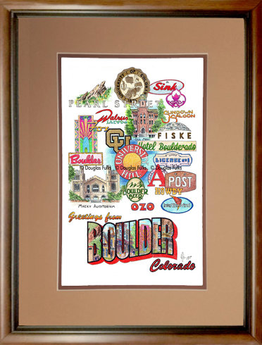 Boulder, Colorado Framed
