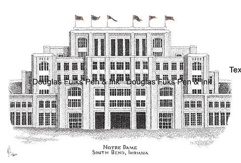 Notre Dame Stadium (new), print