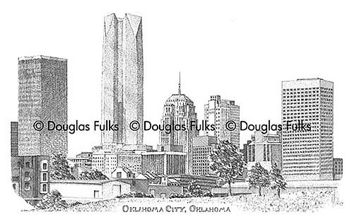 Oklahoma City Skyline, Print