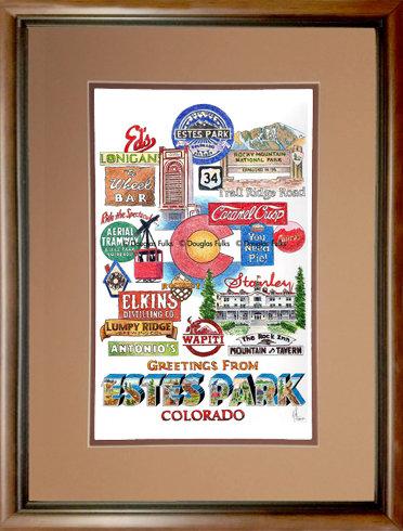 Estes Park, Colorado Framed