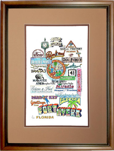 Fort Myers, Florida Framed