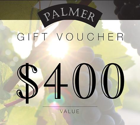 PALMER $400 GIFT VOUCHER