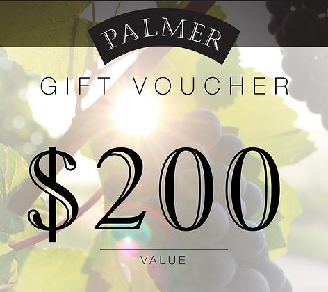 PALMER$200 GIFT VOUCHER