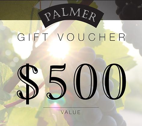 PALMER $500 GIFT VOUCHER