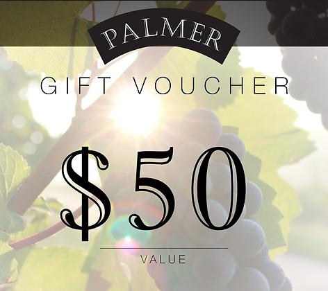 PALMER $50 GIFT VOUCHER