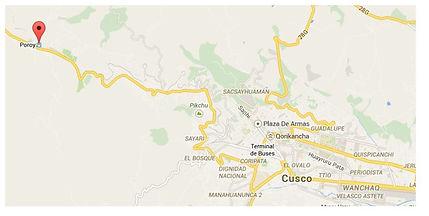 Carte au Pérou pour Poroy