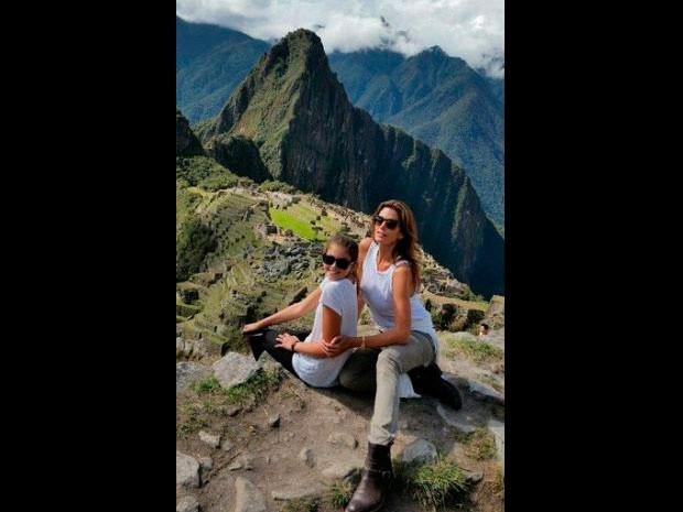 Cindy Crawford au Machu Picchu