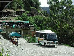 Bus navette transport pour le Machu Picchu