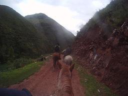 Randonnées à cheval au site Inca Huchuy Qosqo