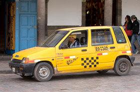 Transport, taxi et voiture à Cusco