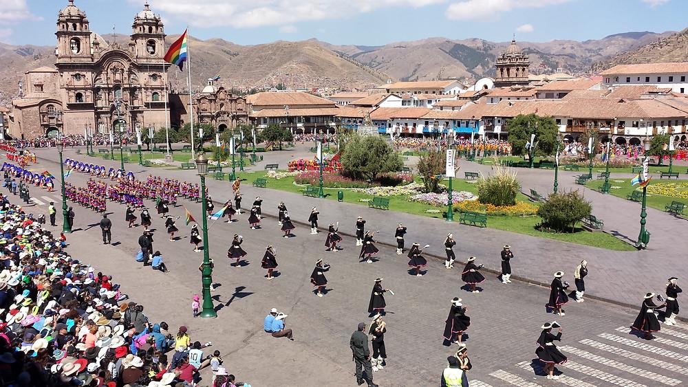 Inti Raymi à la Plaza de Armas de Cusco