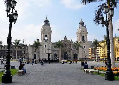Vacances au Pérou la Cathédralede Lima
