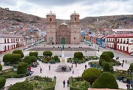 Puno à voir la cathédrale de Puno place d'armes